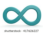 blue infinity sign on white... | Shutterstock . vector #417626227