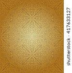 vintage islamic gold pattern ... | Shutterstock .eps vector #417633127