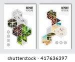 business brochure design...   Shutterstock .eps vector #417636397