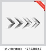 dots arrow icon.halftone arrow. | Shutterstock .eps vector #417638863