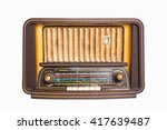 old radio from 1950 and the... | Shutterstock . vector #417639487