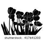 black vector silhouette of... | Shutterstock .eps vector #417641203