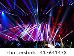 defocused entertainment concert ... | Shutterstock . vector #417641473