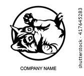 cat logo isolated on white... | Shutterstock .eps vector #417645283
