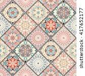 Seamless Tile Pattern. Colorfu...