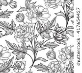 floral seamless pattern. flower ...