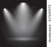 bright lighting with spotlights | Shutterstock .eps vector #417655573
