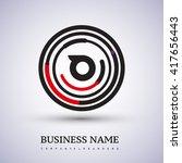 letter o vector logo symbol in... | Shutterstock .eps vector #417656443
