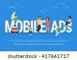 mobile ads concept illustration ... | Shutterstock .eps vector #417661717