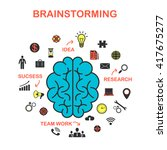 the concept of brainstorming ...   Shutterstock .eps vector #417675277