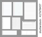 set of notebook papers  vector  ... | Shutterstock .eps vector #417678457