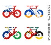 nation flag. bicycle recycled... | Shutterstock . vector #417685717