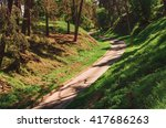 ladder up in park where the...   Shutterstock . vector #417686263