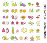 vector set of colored hand... | Shutterstock .eps vector #417691633