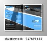 brochure template  flyer design ... | Shutterstock .eps vector #417695653