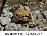 gold nugget mining from the...