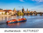 prague  czech republic skyline... | Shutterstock . vector #417719227