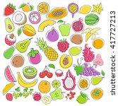 vector set of hand drawn... | Shutterstock .eps vector #417727213