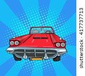 Vintage American Car. Retro...