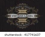 vintage typographic label... | Shutterstock .eps vector #417741637