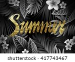 summer background with tropical ... | Shutterstock .eps vector #417743467