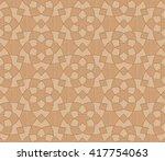 seamless geometric hexa floral...   Shutterstock . vector #417754063