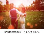 young family. the bride and... | Shutterstock . vector #417754573