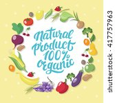 natural organic product  ... | Shutterstock .eps vector #417757963