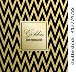 zig zag pattern. gold pattern.... | Shutterstock .eps vector #417774733