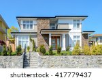 luxury modern house with... | Shutterstock . vector #417779437