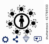 man protected from virus icon. | Shutterstock .eps vector #417785533