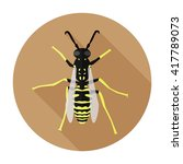 Wasp Icon Flat. Wasp Icon...