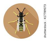Wasp Icon Flat. Wasp Icon...
