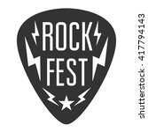 rock fest logo band badge.... | Shutterstock .eps vector #417794143