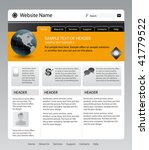 vector editable website template | Shutterstock .eps vector #41779522