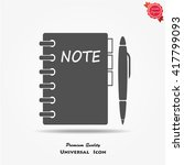 pictograph of note | Shutterstock .eps vector #417799093