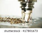industrial metalworking cutting ... | Shutterstock . vector #417801673