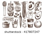vector collection of hand drawn ... | Shutterstock .eps vector #417807247
