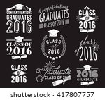 graduation wishes overlays ... | Shutterstock .eps vector #417807757