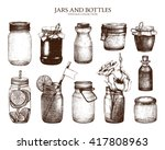 vector collection of ink hand... | Shutterstock .eps vector #417808963