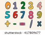 numbers particoloured set in... | Shutterstock .eps vector #417809677