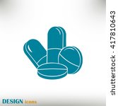 pills icon  pills vector icon | Shutterstock .eps vector #417810643