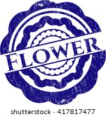 flower rubber seal with grunge... | Shutterstock .eps vector #417817477