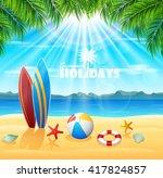 summer holiday background | Shutterstock . vector #417824857