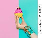 stylish wrist accessories.... | Shutterstock . vector #417842017