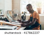 african small business owner... | Shutterstock . vector #417862237