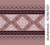 vintage seamless pink brown...   Shutterstock .eps vector #417867037