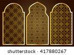 arabic oriental islamic style... | Shutterstock .eps vector #417880267