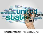 united states concept word...   Shutterstock . vector #417882073