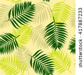 seamless tropical pattern with... | Shutterstock .eps vector #417887233
